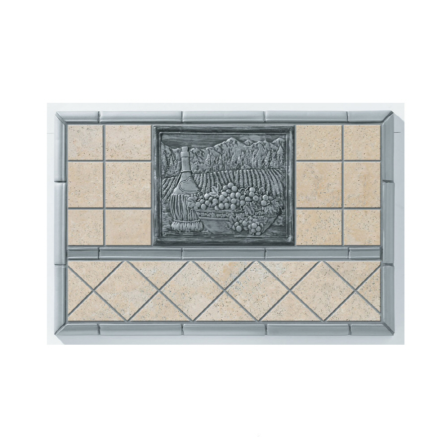 Kitchen Backsplash Tile At Lowes: Shop Broan 20-in X 30-in Cream Stone Kitchen Backsplash At