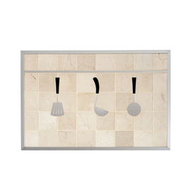 Broan 20-in x 30-in Cream Stone Kitchen Backsplash