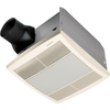 Broan 1-Sone 70 CFM White Bathroom Fan with Light