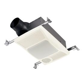 Broan 2-Sone 100-CFM White Bathroom Fan with Integrated Heater and Light