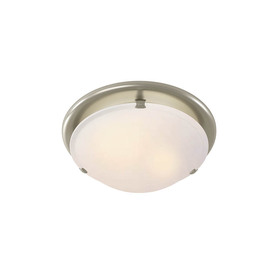 Broan 2.5-Sone 80-CFM Brushed Nickel Bathroom Fan with Light