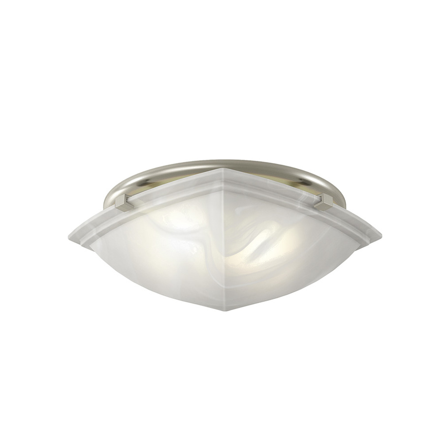 Shop Broan 2 5 Sones 80 Cfm Brushed Nickel Bathroom Fan Room Light Only At