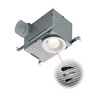 Broan 1.5-Sone 70 CFM Polymeric White Bathroom Fan with Light ENERGY STAR