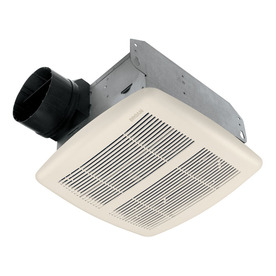 Broan 2-Sone 80 CFM Polymeric White Bathroom Fan ENERGY STAR