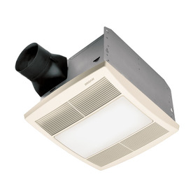 Broan 1.5-Sone 90 CFM White Polymeric Bathroom Fan with Light