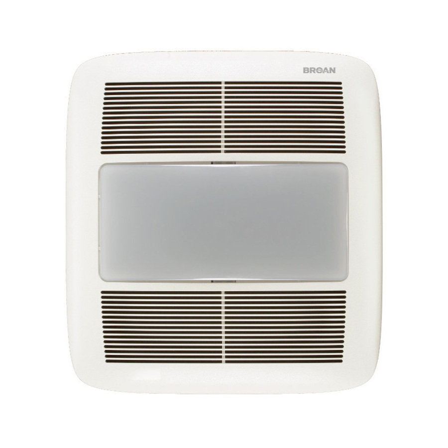 shop broan 1 5 sones 140 cfm white bathroom fan room and night light. Black Bedroom Furniture Sets. Home Design Ideas