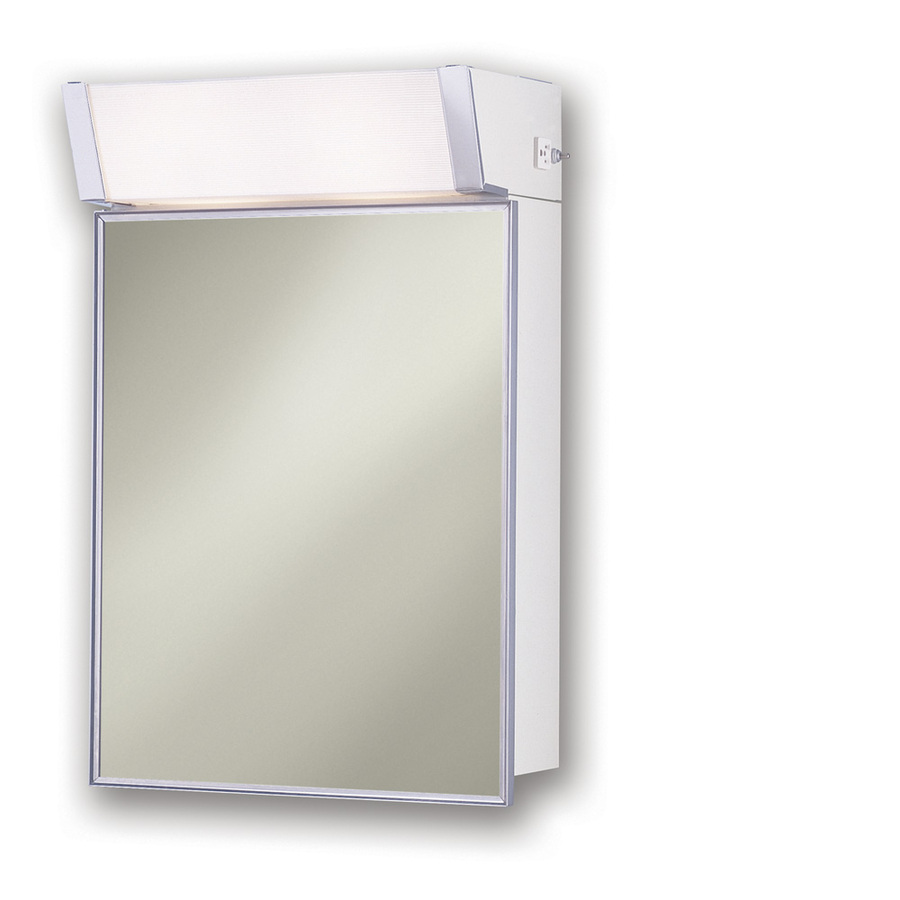 Shop Broan Lighted Cabinet 16 In X 24 In Stainless Steel