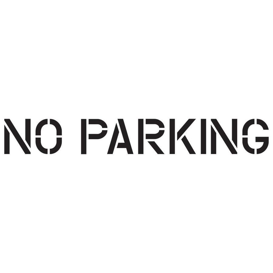 word template no parking adorazar. Black Bedroom Furniture Sets. Home Design Ideas