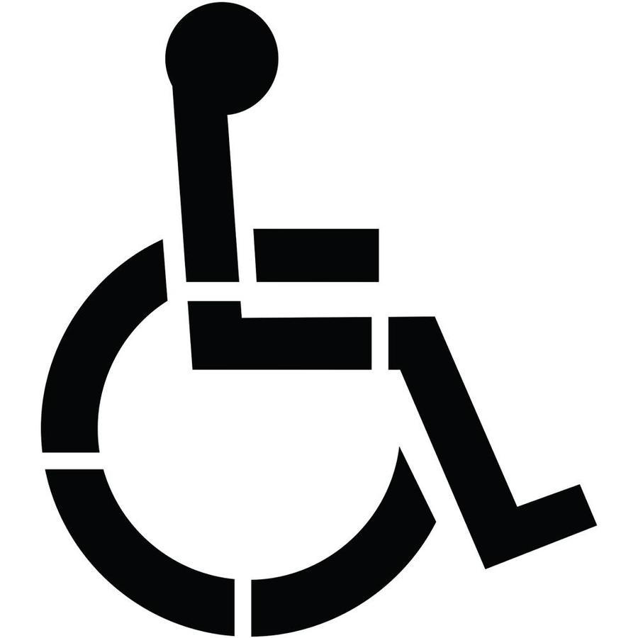 handicap parking sign template - shop stencil ease 36 1 part handicap parking stencil at