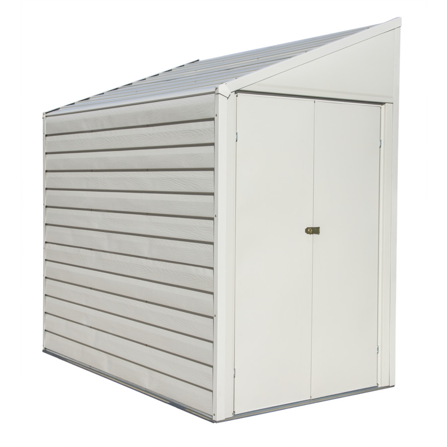 Shop arrow galvanized steel storage shed common 4 ft x 7 for Steel storage sheds
