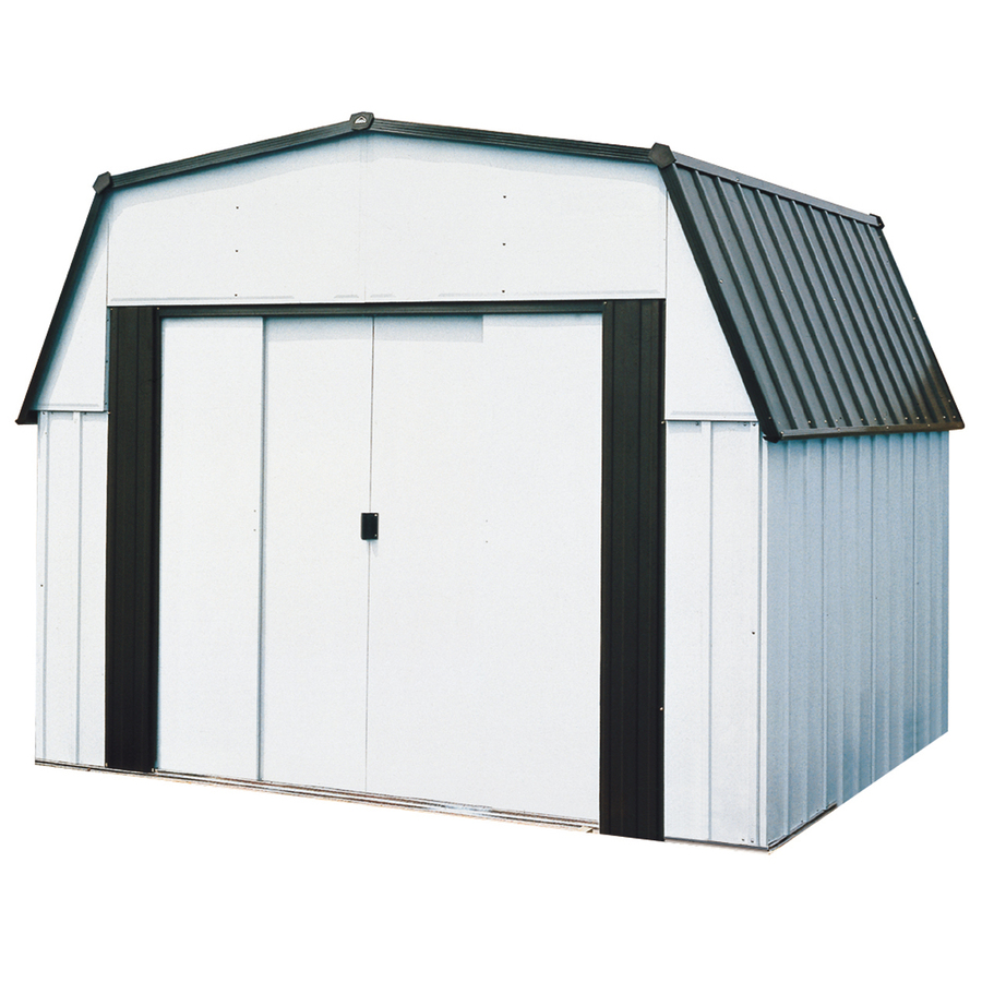 Shop arrow 10 ft x 9 ft galvanized steel storage shed for Lowes storage sheds