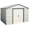 Arrow 10-ft x 8-ft Vinyl-Coated Steel Storage Shed (Actuals 10.27-ft x 7.94-ft)