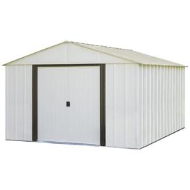 Arrow 10-ft x 12-ft Galvanized Steel Storage Shed (Actuals 10.27-ft x 12.15-ft)