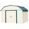 Arrow 10-ft x 14-ft Vinyl-Coated Steel Storage Shed (Actuals 10.27-ft x 13.56-ft)