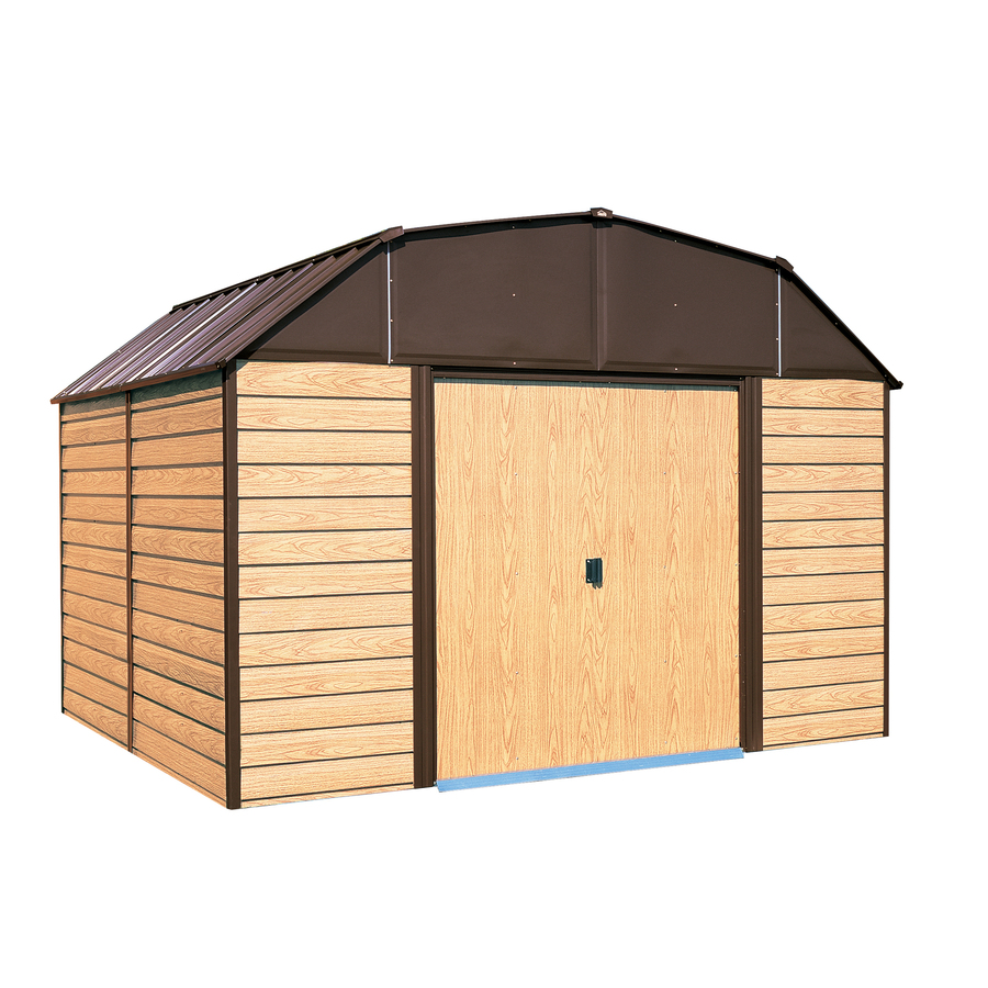 Shop Arrow Galvanized Steel Storage Shed (Common: 10-ft x 14-ft