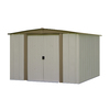 Arrow Bedford Galvanized Steel Storage Shed (Common: 8-ft x 8-ft; Interior Dimensions: 7.9-ft x 7.5-ft)
