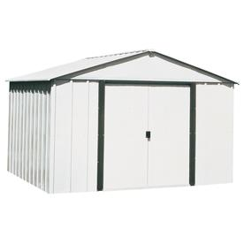 Arrow Galvanized Steel Storage Shed (Common: 10-ft x 8-ft; Interior Dimensions: 9.85-ft x 7.5-ft)