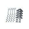 Arrow Stainless Galvanized Steel Storage Shed Anchor Kit