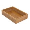 Lipper International 9-in x 6-in Bamboo Multi-Use Insert Drawer Organizer