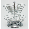 Lipper International 2 Tier Revolving Chrome Basket Coffee Pod Organizer