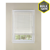 Custom Size Now by Levolor White Faux Wood 2-in Slat Room Darkening Window Plantation Blinds (Common Blind Width: 35-in; Actual Blind Size: 34.5-in x 64-in)