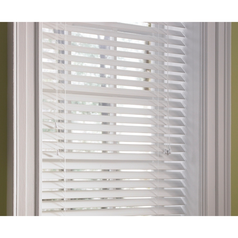 shop levolor white faux wood 2 in slat room darkening