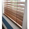 Custom Size Now by Levolor 2-in Walnut Faux Wood Room Darkening Plantation Blinds (Common 23-in; Actual: 22.5-in x 72-in)