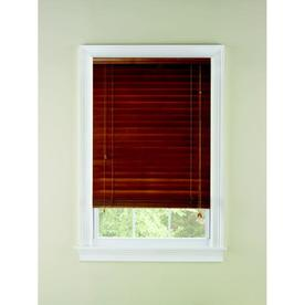 Custom Size Now by Levolor 2-in Oak Wood Room Darkening Plantation Blinds (Common 24-in; Actual: 23.5-in x 72-in)