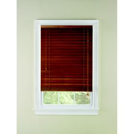 Custom Size Now by Levolor 2-in Oak Wood Room Darkening Plantation Blinds (Common 36-in; Actual: 35.5-in x 72-in)