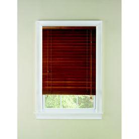 Custom Size Now by Levolor 66-in W x 64-in L Honey Oak Wood 2-in Slat Room Darkening Plantation Blinds
