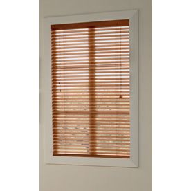 Custom Size Now by Levolor 2-in Pine Faux Wood Room Darkening Plantation Blinds (Actual: 26.5-in x 72-in)