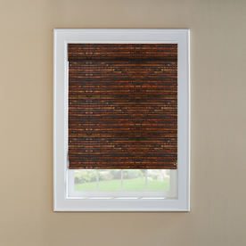 Custom Size Now by Levolor 36-in W x 72-in L Mahogany Light Filtering Natural Roman Shade