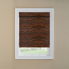 Custom Size Now by Levolor Mahogany Light Filtering Woven Wood Natural Roman Shade (Common 36-in; Actual: 35.5-in x 72-in)