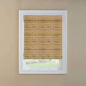 Custom Size Now by Levolor 24-in W x 60-in L Natural Bamboo Light Filtering Natural Roman Shade