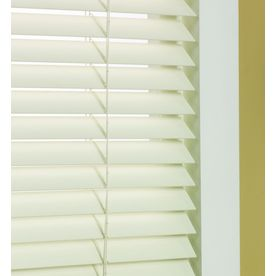 Custom Size Now by Levolor 1.5-in Dover Faux Wood Room Darkening Plantation Blinds (Actual: 47.5-in x 64-in)
