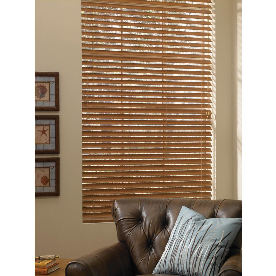 shop custom size now by levolor honey pine faux wood 1 5 in slat room darkening plantation. Black Bedroom Furniture Sets. Home Design Ideas