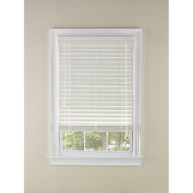 Custom Size Now by Levolor 43-in W x 72-in L Dover Faux Wood 2-in Slat Room Darkening Plantation Blinds