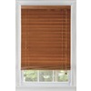 Custom Size Now by Levolor 72-in W x 72-in L Warm Cherry Wood 2.37-in Slat Room Darkening Plantation Blinds