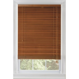 Custom Size Now by Levolor 2-in Warm Cherry Wood Room Darkening Plantation Blinds (Common 72-in; Actual: 71.5-in x 72-in)