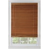 Custom Size Now by Levolor 65-in W x 54-in L Warm Cherry Wood 2-1/2-in Slat Room Darkening Plantation Blinds
