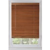 Custom Size Now by Levolor 47-in W x 54-in L Warm Cherry Wood 2-in Slat Room Darkening Plantation Blinds