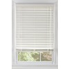 Custom Size Now by Levolor 47-in W x 64-in L White Faux Wood 2.38-in Slat Room Darkening Plantation Cordless Blinds