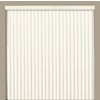 Custom Size Now by Levolor 3-1/2-in W x 84-in L Dover Vinyl 3-1/2-in Slat Room Darkening Vertical Blinds