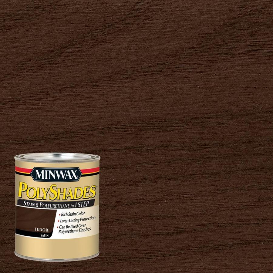 Shop minwax polyshades 1 quart tudor oil wood stain at for Minwax polyurethane