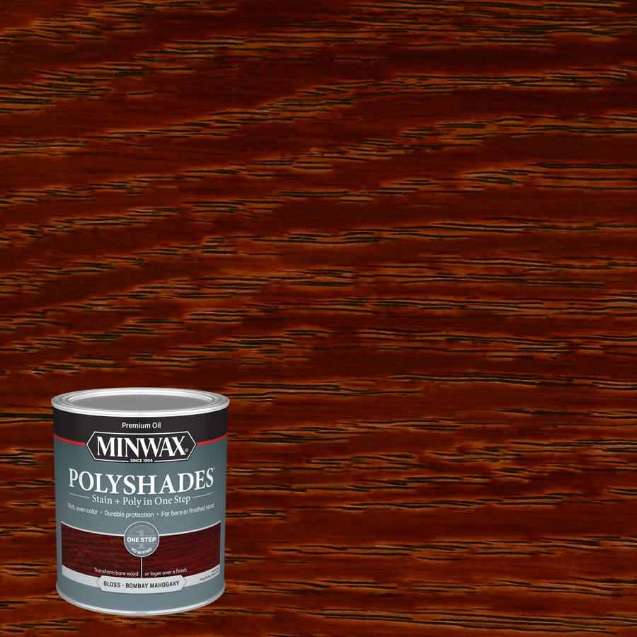 Shop minwax polyshades 1 quart bombay mahogany oil wood for Minwax polyurethane