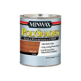 Minwax Polyshades 32-fl oz Pecan Gloss Oil-Based Interior Stain