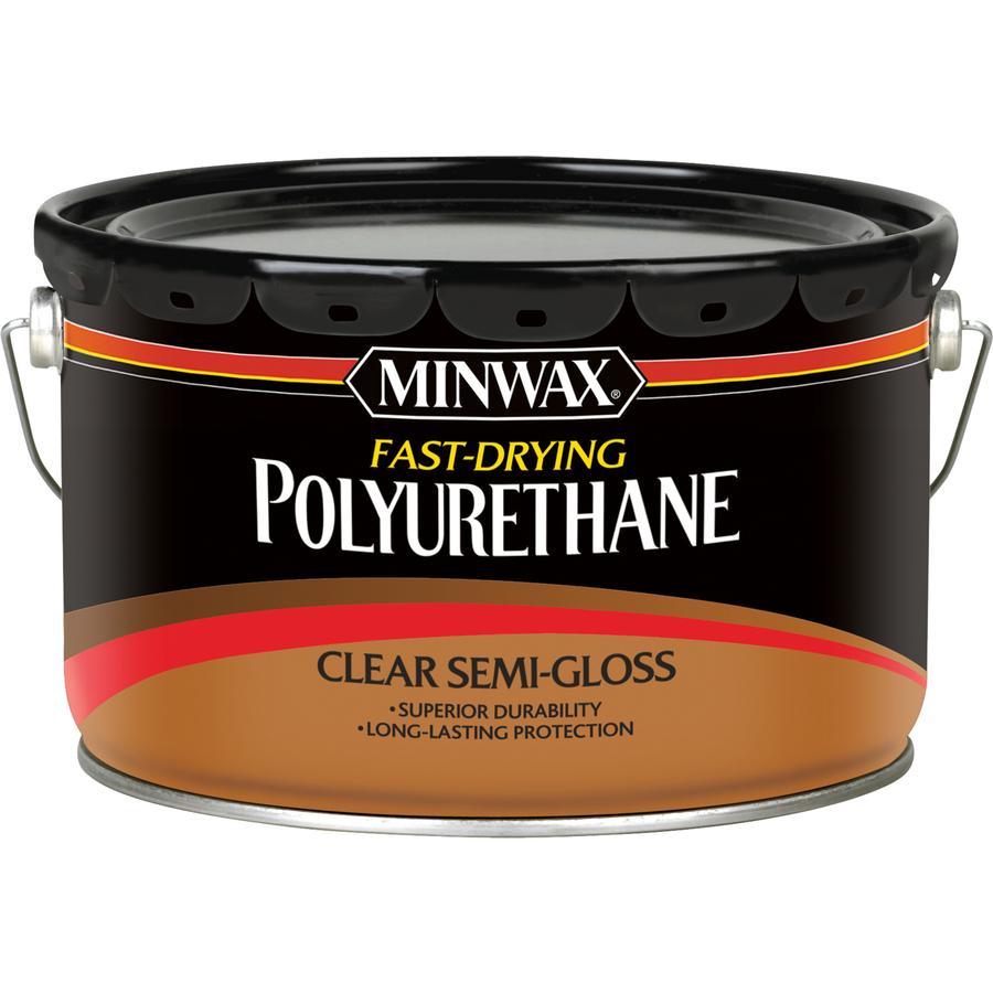 Shop minwax fast drying semi gloss base 320 fl oz for Minwax polyurethane