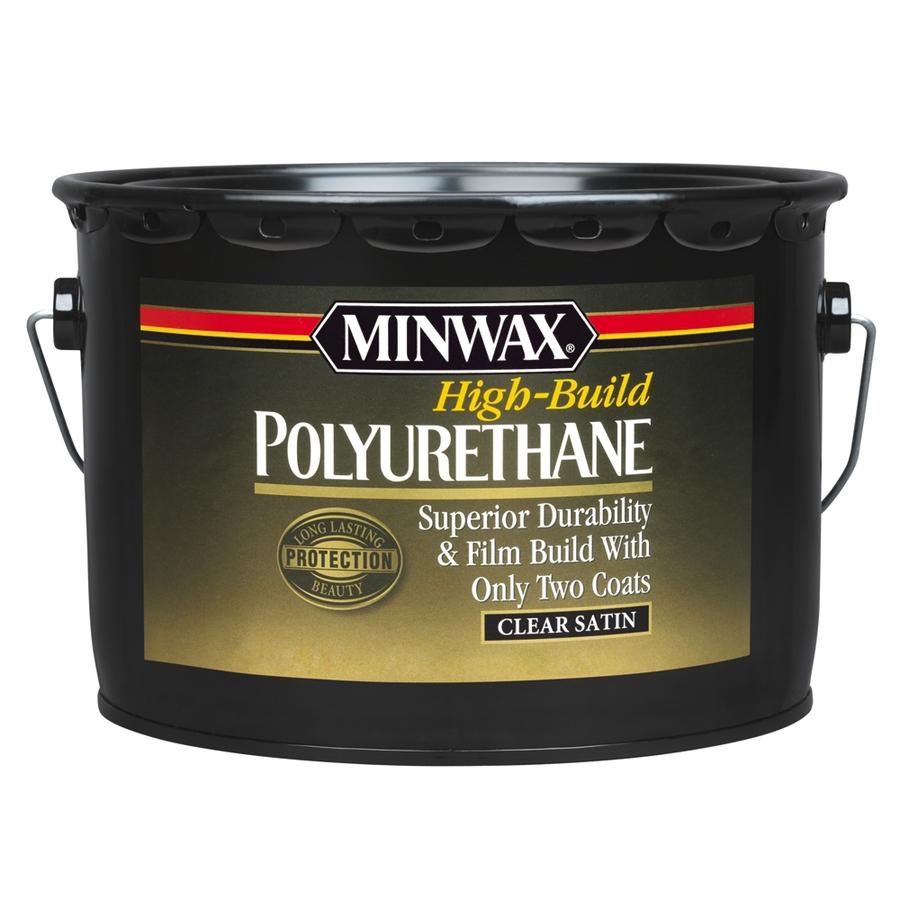 Shop minwax high build satin base 320 fl oz polyurethane for Minwax polyurethane