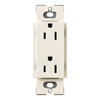 Lutron 20-Amp Eggshell Decorator Single Electrical Outlet