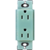 Lutron 20-Amp Sea Glass Decorator Single Electrical Outlet